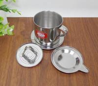 Wholesale Wholesale Drip Coffee - Stainless Steel Vietnamese Drip Coffee Filter Maker Pot Infuser