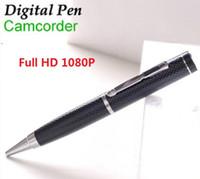 Wholesale Covert Video Surveillance Camera - Spy Pen camera Full HD 1080P Pen DVR Hidden pinhole camera audio video recorder covert mini DV Security & Surveillance camcorder T1
