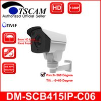 Wholesale Outdoor Wired Pan Tilt - TSCAM new DM-SCB415IP-C06 Bullet IP Camera HD 1080P 2.0MP Outdoor Waterproof CCTV Network IR MINI PTZ Security Camera Pan Tilt P2P