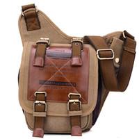 Wholesale Letter Beads Pack - Messenger Bag Crossbody Pack Canvas Leather Single-shoulder Chest Pack Bag for Men Chest Pack Crossbody Bag