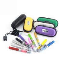 Wholesale Ecigs Ce4 Starter Kit - CE4 eGo Starter Kit E-Cig Electronic Cigarette Zipper Case kit Single Kit with CE4 atomizer and 650mah 900mah 1100mah Ego T battery ecigs