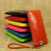 Wholesale Cheapest Clutch Bags - Wholesale- New 2016 Cheapest Women's PU Purse Clutch Wristlet Wallet Bag Coin Bag Phone Key Case Makeup Bag Drop shipping