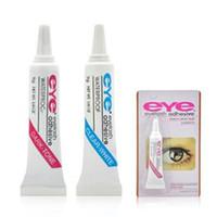 Wholesale Eyes Lashes Glue - Eye Lash Glue Black White Makeup Eye Lash Adhesive Waterproof False Eyelashes Adhesives Glue White And Black Available CCA6770 1200pcs
