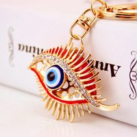 Creative Rhinestone Keyrings For Girl Accessoires de beauté Design de mode Luxury Eye Keyring Wholesale 2017 Hot Sale