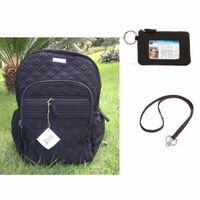 mochila de microfibra negra al por mayor-Mochila Campus Negro microfibra azul Volver a la escuela con sistema de cordón negro