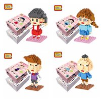 Wholesale Maruko Chan - LOZ Diamond Building Blocks Anime Sakura momoko Chibi Maruko Chan Scene Edition Maruko and Sister Cartoon Educational Girls Gift Toy