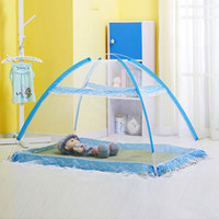 Wholesale Mosquitoes Bite - Wholesale-Baby Mosquito Anti-bite Net Kids Indoor Foldable Baby Bed Bottomless Mesh Cover Infants Summer Folding Mosquito Net