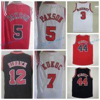Wholesale M L Kirk - 2017 Throwback Uniforms 3 Doug McDermott 44 Nikola Mirotic Jersey Retro Shirt 5 John Paxson 7 Toni Kukoc 12 Kirk Hinrich Red White Black