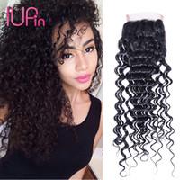 "Wholesale Cheap Beauty Supply Hair - IUPin Hair Products Deep Wave Virgin Indian Human Hair 4x4 Lace Closure 8""-20"" Cheap Indian Hair Deep Wave Beauty Supplies On Sale"