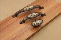 Wholesale Drawer Handle Copper - vintage rose drawer pulls door hardware  knobs cabinet handles antique copper drawer pulls
