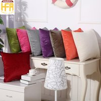 Wholesale Suede For Sofa - 45*45Cm Cushion Cover Pillow Case Living Room Bedroom Sofa Cushion Covers Pure Color Suede Pillowcase For Home Decoration