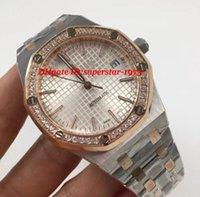 Wholesale Mechanical Watche - Luxury Wristwatch Automatic 41mm 15400sr.oo.1220sr.01 Diamond Bezel Two Tone Rose Stainless Steel Bracelet Automatic Mechanical Men Watche