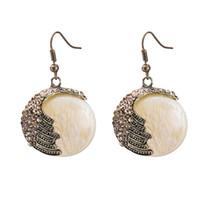 Wholesale Top Luxury Diamond Earrings - Top new fashion personalied exquisite luxury Bohemia retro alloy diamond glass dangle chandelier pendant earrings
