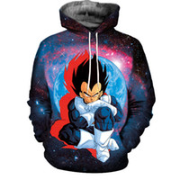 Wholesale Galaxy Standard - Galaxy Dragon Ball Z 3D Print Hoodies Mens Womens Sweatshirt Dragonball Super Saiyan Goku Graphic Hooded Unisex Pullover Coat