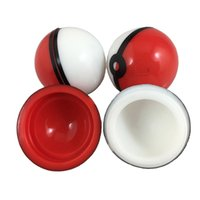 Wholesale Glass Containers For Food - New Silicon Poke Mon Ball Pokeball Food Grade Silicone Ball Container Jar for Dab Oil Dry herb Wax Box glass bongs