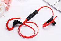 Wholesale Earhook For Bluetooth - Sport Earhook wireless headphones for iphone earphones with Mic Wireless Earbuds in ear headphone Neckband headset Blutooth