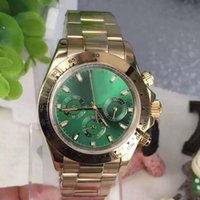 Wholesale Green Dress Dhgate - DHgate AAA selected supplier 2017 new luxury brand watches man 116508 green dial goldwatch automatic mechanical watch mens dress watches