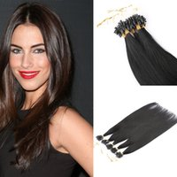 Wholesale Quantity inch Micro loop hair extension with tipped loop beads S Fast shipping in stock