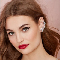 Wholesale ear piercing studs star resale online - Punk Star Silver Gold Tone Single Ear Bone Clips Gothic Piercing Stud Earrings Fashion Womens Jewelry