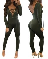 Wholesale Spandex Full Bodysuit For Women - Straps jumpsuit for women sexy bodysuit catsuit body womens overalls bodysuits casual bandage playsuit women rompers