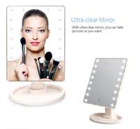противостоять зеркалам оптовых-Горячий продавать профессиональный квадратный освещенный косметический стоя макияж зеркало Голливуд стиль увеличительное led зеркало для макияжа со светодиодной подсветкой