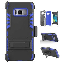 Wholesale Black Belt Swivel Clip - Full Body Case Cover for Samsung Galaxy S7 Edge S8 Plus Combo Protective Shell with 360 Degree Swivel Belt Clip & Kickstand & Card Slot