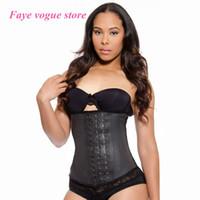 Wholesale Latex Underwear Sale - Wholesale- 2015 Hot Sale New Style Ann Chery Body shaper Latex Waist trainers Corsets Underwear black underbust corset steel waist cincher