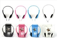 Wholesale Wire Headband Color - New K13 headset color boutique headphones star patterns Earphone Headset with For PC Laptop smart phone computer