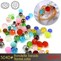 Wholesale Silver Nail Letter Art - Nail art Glass Rondelle Beads 6mm Normall Color A5040 100pcs set Crystal Beads for Jewelry Making