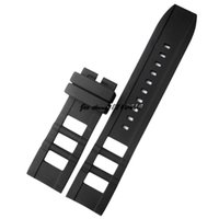 JAWODER Watchband New Men's 26mm (24mm Buckle End) Black Silicone Rubber Diver Watch Band Strap para INV 12966 I-Force Relógio de poliuretano