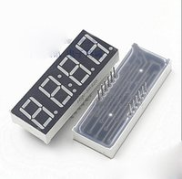 """Wholesale Numeric Digits - Wholesale- 10PCS Lot 0.56"""" 0.56 inch 4 Digits 7 Seven Segment Numeric Digital Display Red LED Beads with Clock Common Cathode"""
