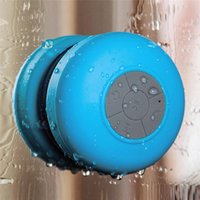 Alto-falante Bluetooth Portable Mini Wireless Waterproof Shower Sucker Speakers para telefone MP3 MP3 Receiver Hand Free Cralde