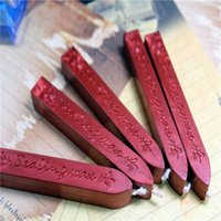Wholesale wax seal sticks red - Wholesale- 5Pcs Wine Red Manuscript Sealing Seal Wax Sticks Wicks For Postage Letter Happy Best Gifts High Quality