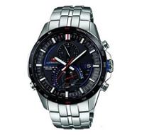 Wholesale Radio Leather - New Mens Chronograph Wrist Watch Radio Mens Watch EQS-A500DB-1AV A500DB Black Face Wristwatch