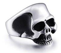 Wholesale Skulls Punk Rock Rings - Men's Punk Rock JewelrySteel soldier stainless steel exquisite skull men ring high quality jewelry br8-323