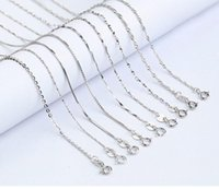 Argent Sterling Collier Croix Pas Cher Pas Cher-100% 925 Sterling Silver Smooth Snake Cross Rope Chain Seeds Box Twist Colliers Chaînes Bijoux DIY Bijoux Taille du composant 16 '' - 18 ''