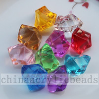 Wholesale Wholesale Acrylic Clear Ice - Wedding Vase Fillers by Acrylic Crystal Stones 100pcs Ice Rocks table scatter beads