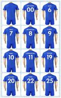 Wholesale fast king - Fast Uniforms Kit 2017-2018 Soccer Jersey Leicester #7 GRAY #8 IHEANACHO #9 VARDY #10 KING #20 Okazaki #28 Fuchs Home Blue Jerseys