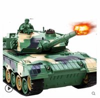 Wholesale Radio Controlled Tank Model - Wholesale- Kingtoy Rc Battle Tank Remote Control War Shooting Tank large scale Radio Control Army battle Model millitary rc tanks Toy