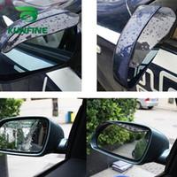 protetores de chuva do carro venda por atacado-2 pçs / lote PVC Car espelho retrovisor chuva sobrancelha weatherstrip espelho auto chuva escudo viseira à prova de chuva
