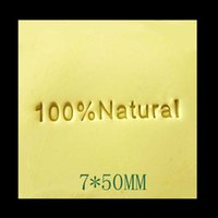 "Wholesale Soap Mold Sizes - Wholesale- ""100 natural"" handmade Resin soap stamp mold chapter mini diy patterns custome made size"
