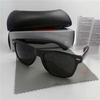 uv eyewear großhandel-Hohe qualität Marke Designer Mode Männer Sonnenbrille UV Schutz Outdoor Sport Vintage Frauen Sonnenbrille Retro Eyewear Mit box und fällen