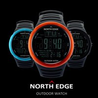 Wholesale Digital Fishing Barometer Watch - Wholesale- NORTHEDGE Men Digital watches outdoor watch clock Fishing weather Altimeter Barometer Thermometer Altitude Climbing Hiking hours