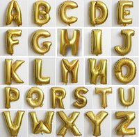 Wholesale Letters Balloons Free Shipping - 2017 Wholesale A to Z Letter balloon and 1to 9 Number Foil Balloons DIY balloons Birthday Party Wedding Decoration Balloons DHL free ship