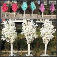 Discount led tree blossoms - New Arrival Cherry Blossoms Tree Road Leads Wedding Runner Aisle Column Shopping Malls Opened Door Decoration Stands