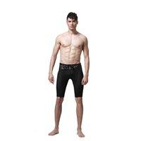 Wholesale Pvc Man Lingerie - Wholesale- Mens Latex Imitation Leather Net Mesh Panties Pvc Mens Lingerie Unisex Panties sexy men's panty size S-XL