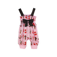 Wholesale outfits suspenders for sale - Baby Clothes Girl s Ice Cream Jumpsuit Suspender Trousers Pant Baby Lovely Bow Jumpsuits Kids Summer Thin Materials Outfit p l