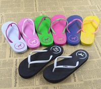 HOT 7 Colors Girls Vs Pink Flip Flops Love Pink Sandals Pink Letter Beach Zapatillas Shoes Summer Soft Sandalias Beach Slippers 100pair