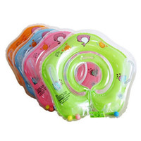 Wholesale Swimming Baby Rings - baby Gear Swimming Pool & Accessories swimming swim neck ring baby Tube Ring Safety infantfloat circle bathing Inflatable Drop