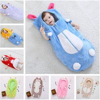 Wholesale Baby Clothes Delivery - Baby spring and autumn winter sleeping bag baby sleeping bag 100% cotton outside clothes warm bag is the Rabbit animal model Free Delivery